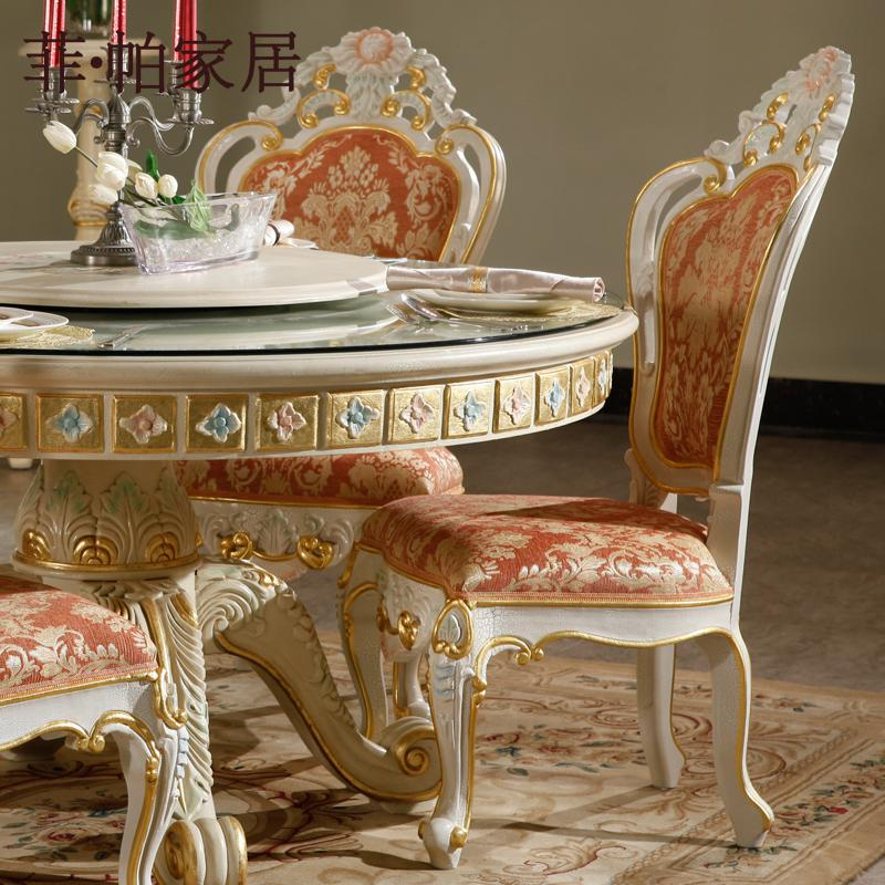 Luxury Furniture Italy Design   High End Furniture Manufacturer Solid Wood  Leaf Gilding Dining Room Chair Free Shipping