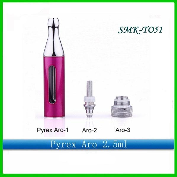 2014 Aro tank atomzier Clearomizer Pyrex glass tank Rebuildable compatible CE4 Atomzier For eGo Battery Series E cigarette DHL Free shipping