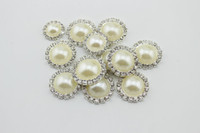 Wholesale rhinestone pearl clusters - 20pcs Creamy colors 16mm Flatback Diamond Rhinestone Crystal Pearl Cluster Scrapbooking Craft
