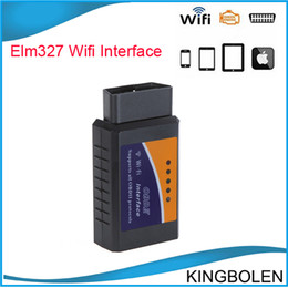 Wholesale Wifi Obd Android - DHL Free Shipping ELM327 obd WiFi obd WIFI OBD2 elm327 wifi wifi elm327 work on iPhone iPad Android pohone pad elm327 wifi