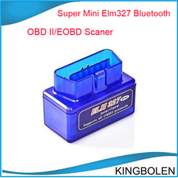 Wholesale Hyundai Brands - ELM327 Bluetooth OBD2 mini version Latest Version V2.1 Mini ELM 327 Bluetooth For Multi-brands CAN-BUS Supports All OBD2 Model