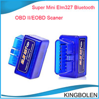 Wholesale Obdii Can Code Scanner - Super Mini ELM327 ELM 327 V2.1 Bluetooth OBD2 OBD-II CAN-BUS car auto Diagnostic Scanner Tool elm 327 Bluetooth mini elm327 OBDII scanner