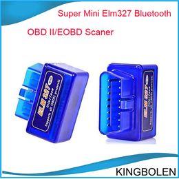 Wholesale Super Ford Scanner - Super Mini ELM327 ELM 327 V2.1 Bluetooth OBD2 OBD-II CAN-BUS car auto Diagnostic Scanner Tool elm 327 Bluetooth mini elm327 OBDII scanner