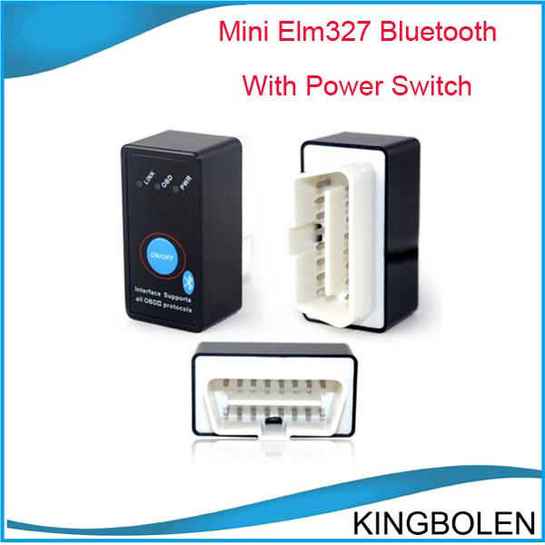 Wholesale price Super mini elm327 elm 327 bluetooth OBD2 OBDII OBD II Can bus can-bus car code reader works on android elm327 interface