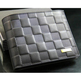 Wholesale Soft Leather Wallets Mens - S5Q Mens Soft Leather Bifold Short Wallet Money Holder Multi Card Pocket Purse AAACRJ