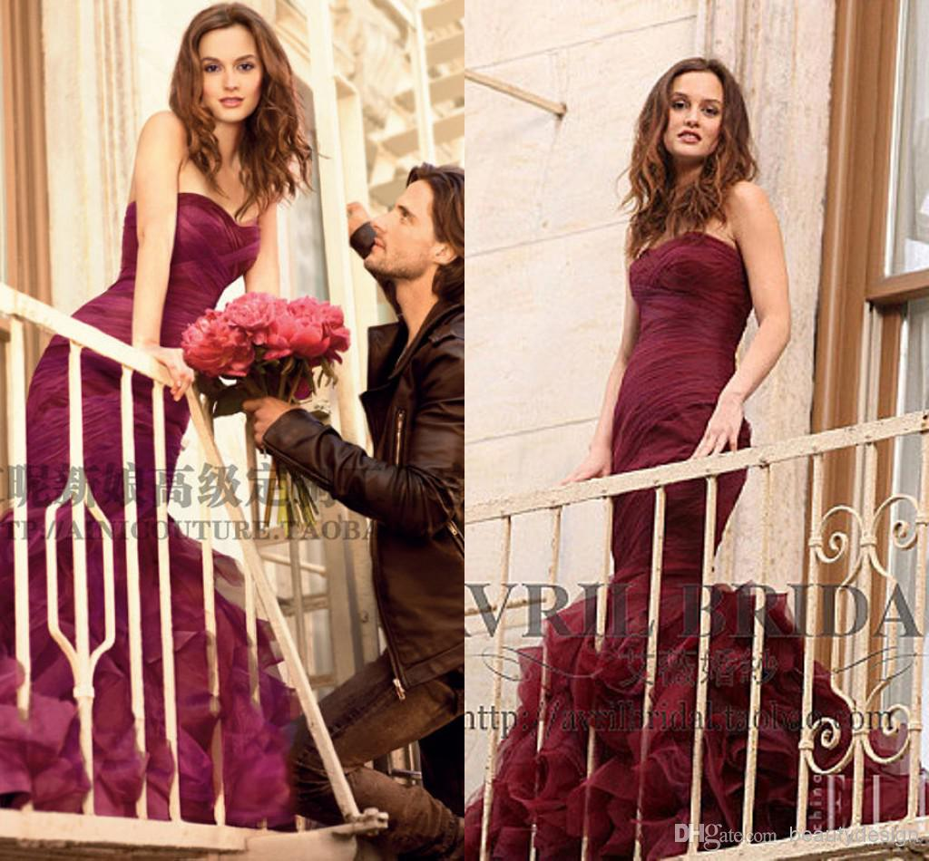 Charming Grape Purple Gossip Girl Queen Blair Evening Prom Gowns ...