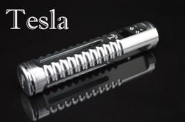 Wholesale E Cigarette Atomizer Lcd Voltage - Tesla Mods OLED Display LCD Variable Voltage Adjustable 3V-6V Suit For DCT 6ML Protank 3 Atomizer TESLA E Cigarettes Mods