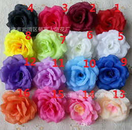 Wholesale Wholesale Silk Flower Christmas - Wholesale - - 100p New Arrival Silk Artificial Flower Single Peony Rose Camellia Wedding Christmas 8cm 15 Colours