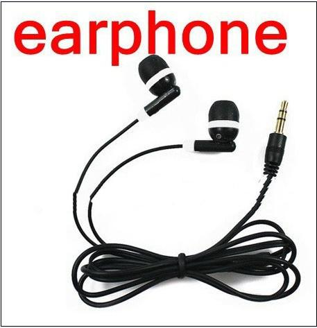 Vente en gros - Nouvelle Universal Black Headphone 3.5mm Earbud Écouteur pour jeux MP3 MP4 Psp Lecteurs gratuits