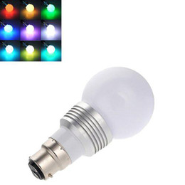 led bayonet bulbs prices - S5Q B22 3W Changing RGB LED Light Bayonet Bulb Remote Control Color Globe AAACVD