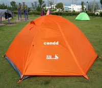 Wholesale Tents Rain - High Quality 2 Person Double Layer Heavy Rain-Proof Fiberglass Camping Tent free shipping