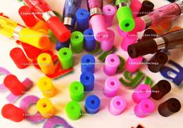 Wholesale Ego Ce9 T2 - Colored Ce4 Ce5 Ce9 T2 T3 Vivi Nova Soft Mouth Piece Atomizer Silicon Rubber Tips Ego Caps Disposable clearomizer Test Caps flavor Test Hole