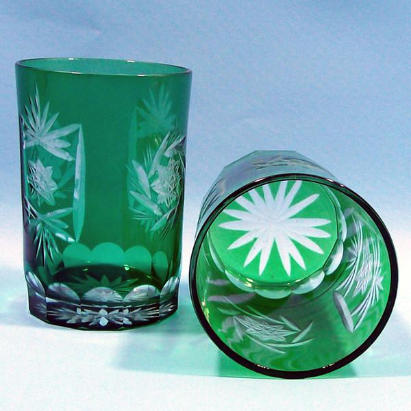 Bohemian green Cut para limpar Glass demitasse CUP crystal whisky copos de cerveja copo