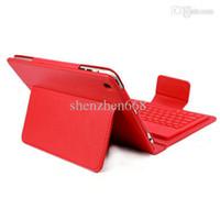 Wholesale Leather Case Keyboard Dhl - DHL 65pcs Hot Sale Wireless Bluetooth Keyboard leather case Cover for 7.9'' ipad Mini Protective Cases JJ07-3