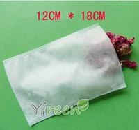 Wholesale Chinese Herbs Free Shipping - Free shipping! 100pcs 120 X180mm Non-woven Fabric tea filters, Heat sealing Empty teabag, Herb tea bag, for Chinese medicine