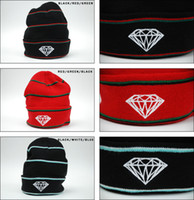 Fashion Stripe Diamond Supply co. Beanie Style populaire Skullies Beanie Snapbacks bon marché Casquettes Casquettes Winter Street Wear Beanies Qualité supérieure