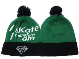 Wholesale Military Style Caps Hats - Retail 1pcs Diamond Supply co. Beanie Popular Style Skullies Beanie Cheap Snapbacks Hats Caps Winter Street Wear Warm Beanies Top Quality