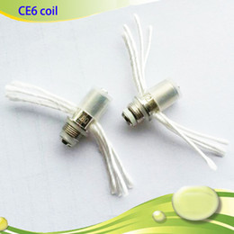 Wholesale E Cig Ce6 Clearomizer Wicks - Ego Resistor Replacement Wicks Clearomizer Coil Head for CE6 CE4 V3 Multi Wicks For eGo E Cig CE4 CE5 Atomizer