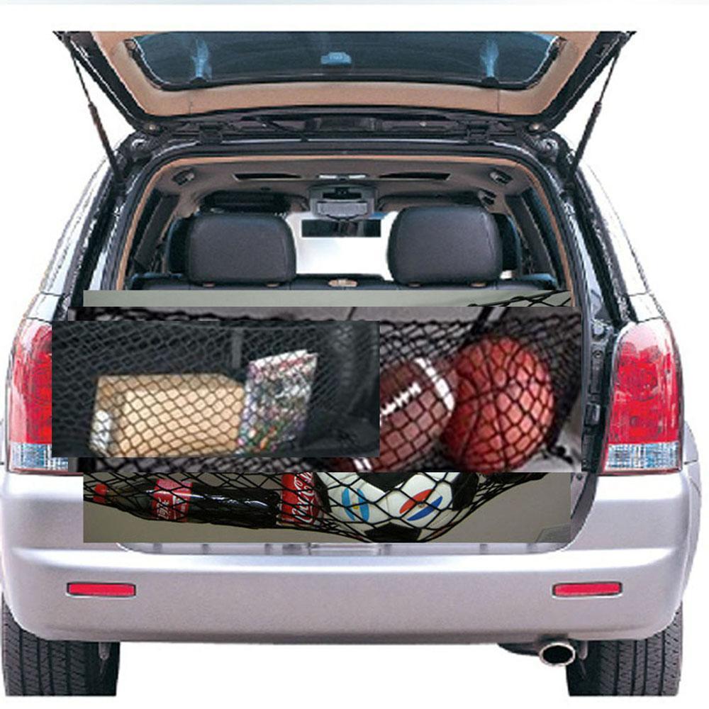 interior accessories ratchet strap luggage rear trunk cargo net envelope organizer size cm