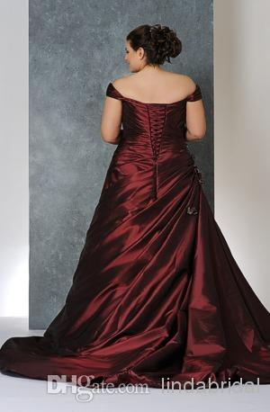 Discount Plus Size Wedding Dress A Line Burgundy White Satin Color Accent Bridal Wedding Gown Pl31 Short Wedding Dress Unique Wedding Dresses From Lindabridal 152 87 Dhgate Com,Black Dress To Wear To Wedding