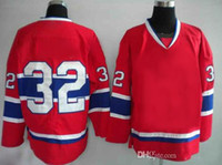 Wholesale Cheap Wholesale Athletic Apparel - Travis Moen 32 Hockey Jerseys Mens Red Canadiens Jerseys Cheap American Hockey Jersey Top Sellers Athletic Apparel Hot Sale Outdoor Jerseys
