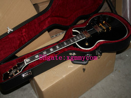 Wholesale Electric Guitar Free Hard Case - HOT Black Guitars Custom Electric guitar Free Hard Case free shipping