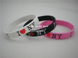 Wholesale Great Halloween Gifts - Wholesale 100PCS Lot I Love NY Silicon Bracelet, A Great Way To Show Your Difference By Wearing This Wristband