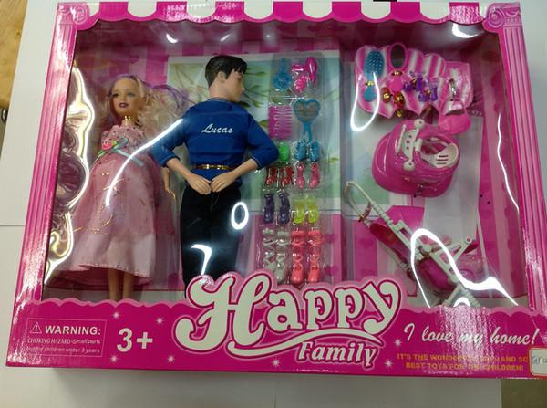 hot sale large discount really comfortable Acheter Vente Tout Nouveau Heureux Barbie Enceinte Cadeau Jouets De Poupée  De La Famille Fille Livraison Gratuite De $412.72 Du Superhappytoys   ...