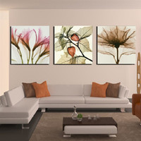 3 Pieces Modern Wall Painting living room Abstract flower pi...