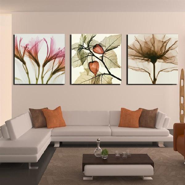 Großhandel 3 Stücke Moderne Wandmalerei Wohnzimmer Abstrakt Blumen Bild  Wandkunst Ölgemälde Home Dekorative Kunst Bild Leinwand Von Zhizihuakai, ...