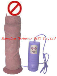 Wholesale Waterproof Dildos - Free Shipping - Huge Penis Large Dildo 7 speeds 360 degree two-way Rotation Vagina Massager Waterproof A034