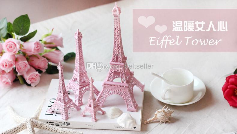 Creative Valentine's Day gift Pink Paris 3D Eiffel Tower model Alloy Eiffel Tower Metal souvenir Wedding centerpieces table centerpiece