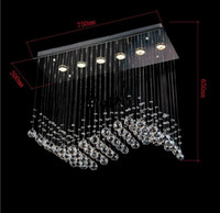 Wholesale Most Popular Chandeliers - promotion sales most popular style curtain wave 6 lights L750*W300*h650mm contemporary crystal chandelier MYY8342