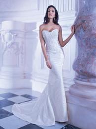 Wholesale Demetrios Mermaid Dresses - 2014 Sexy Mermaid Wedding Dresses Bridal Gown Sleeveless Lace Beaded Inspired by Demetrios dhyz 02