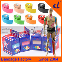Wholesale Medical Wholesaler Supplies - DL Brand Kinesiology tape 5cm x 5m Kintape Box+Instruction Manual,Elastic Medical Supplies,Physio Muscle Therapy tape,Sports Safety