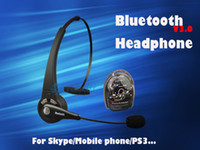 Wholesale Skype Headset Wireless - Wholesale New Style Cool Wireless Wireless Bluetooth Headset for Skype PC Mobile phone working,Headphone Earphone,Good Game Partner