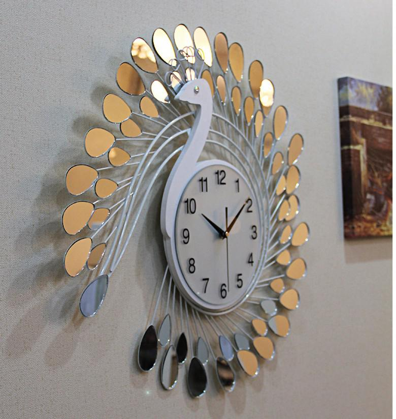 Exceptional Fashion Peacock Design Silent Wall Clock Creative Craft Clocks For High  Grade Living Room Bedroom Decor Wall Clock Online With $136.62/Piece On ...
