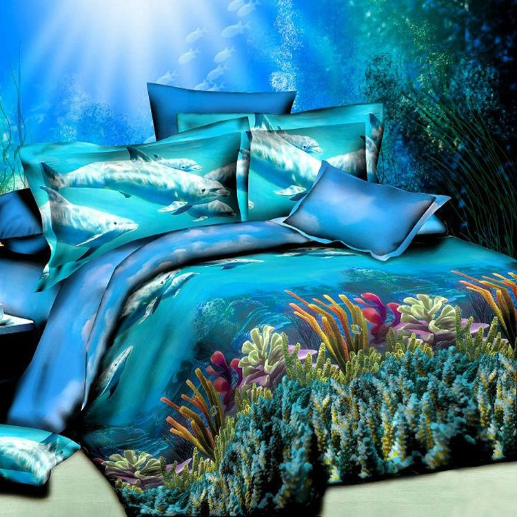 Ocean Blue Bedding Set Duvet Quilt Comforter Covers