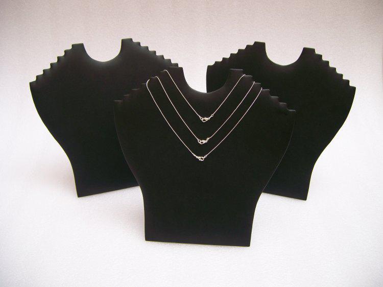 折りたたみ式ジュエリーディスプレイバストマネキンペンダントネックレススタンドホルダーラックイーゼルブラックベルベットPUレザーホワイトレザー