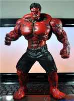 """Wholesale red hulk - 10"""" Red Hulk Action Figure The Avengers PVC Figure Toy Hands Adjusted Movie Lovers Collection"""