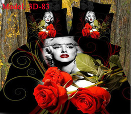 Wholesale Sexy King Comforter Sets - Sexy Goddess Marilyn Monroe Cotton Bedding Sets 4PCS Bedcover Bedsheet Bedclothes Duvet Quilt Cover Pillow Case Queen Size Comforter DHL