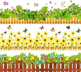 Falda de pared online-Recién llegado Pegatinas de pared Pegatina despreciable Crural línea Bordeos Desplazamiento vestíbulo baseboard wall art calcomanía extraíble Cita Vinilo