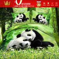 Wholesale Dolphin Sheets Queen - 2014 Hot Home Textile 3D printed animal designs bedding sets 4pcs Panda Grus japonensis dolphin bedspread bed sheet DHL