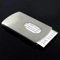 Wholesale Stainless Steel Name Holders - S5Q Sliding Stainless Steel Business Name ID Credit Card Case Holder Box Gift AAAAIN