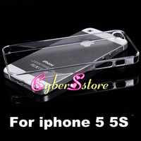 Wholesale iphone case for sublimation - For iphone 5 SE Clear Crystal Transparent Plastic Hard Back 3D Blank sublimation printing DIY Case Cover For iphone5 6 7 5S 5SE