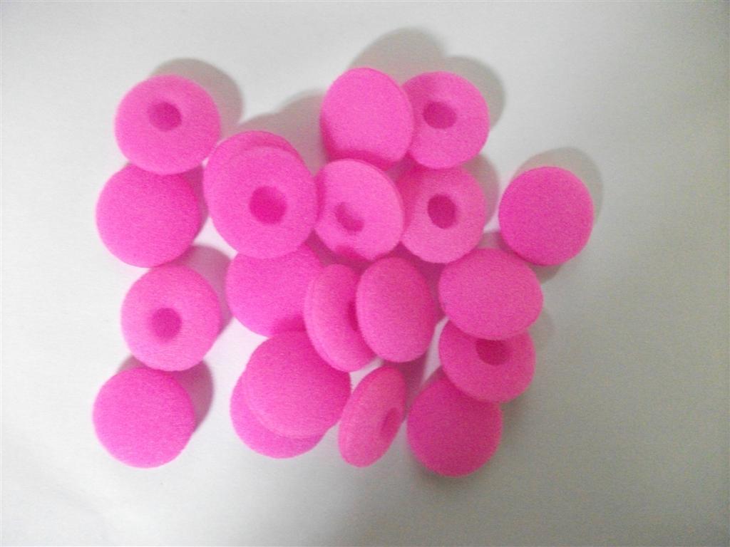 18mm rosa skum öronpuddar 100st / gratis frakt post