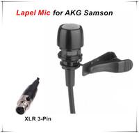 Wholesale Condenser Microphone Xlr - High Quality Lapel Condenser Microphone Lavalier Microfone for  Samson Wireless Transmitter System XLR 3Pin Microfono