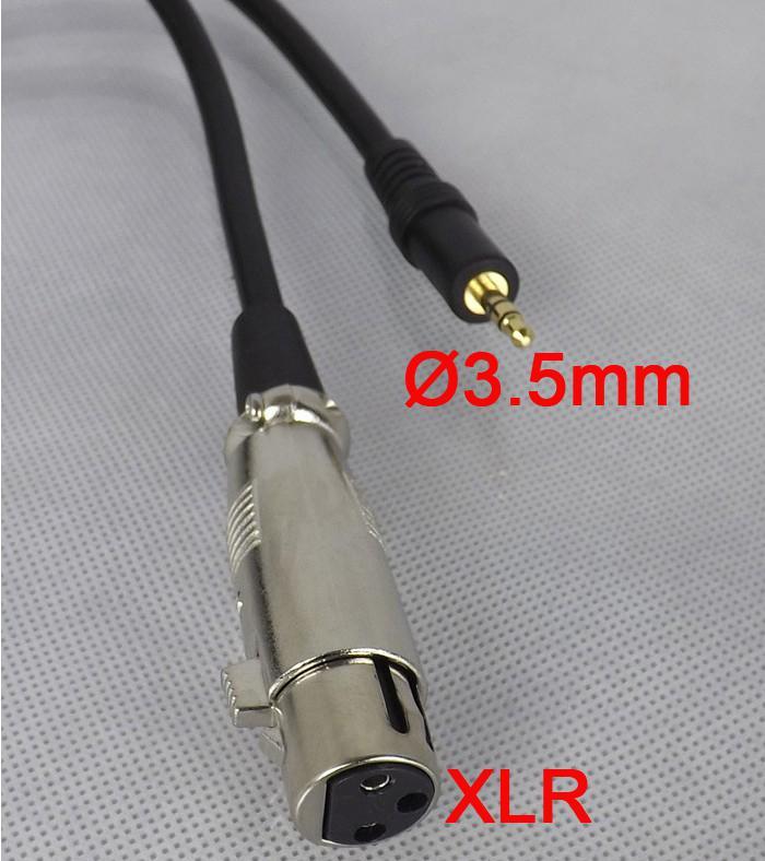 Ny ankomst!!! Svart 3 meter Man 3pin / Kvinna 3,5 mm Stero Mikrofonkabel för Mike Connector + Gratis frakt