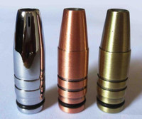 Wholesale Ego C Mouthpiece - Electronic Cigarette Copper Bullet Style Drip Tip for E Cig 510 Clearomizers EGO T EGO C Ego Metal Mouthpiece