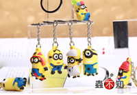 Wholesale Despicable Ring - 100 pcs New Despicable me 2 Key Chains Metal Key Ring Party gifts FREE SHIPPING